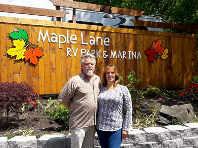 larry elizabeth mechek new owners maple lane rv park & marina mapleton or